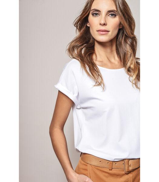 Leuke witte basis t-shirt met raglanmouw