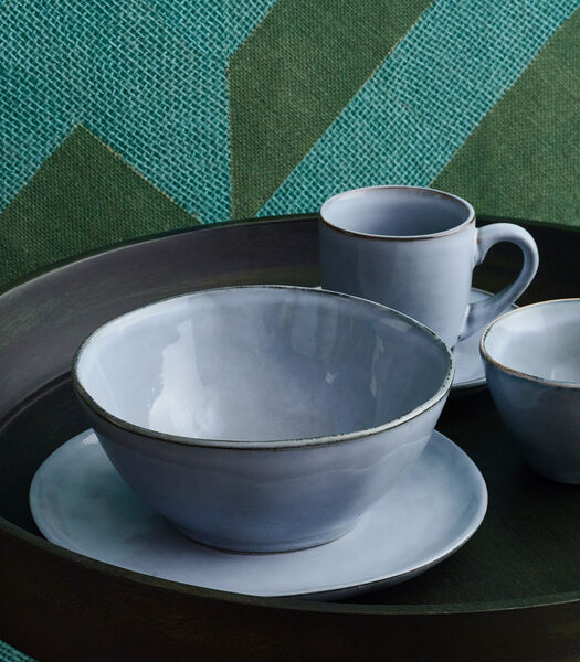 Assiette plate 27,5cm coupe bleu Artisan - set/4