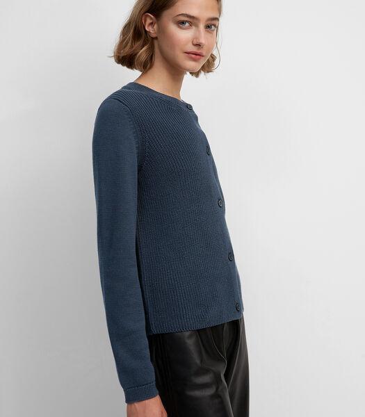 Vest gebreid van garen van organic cotton