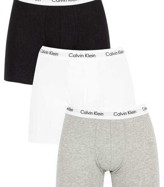 Katoenen stretch-boxershorts met 3 pakken
