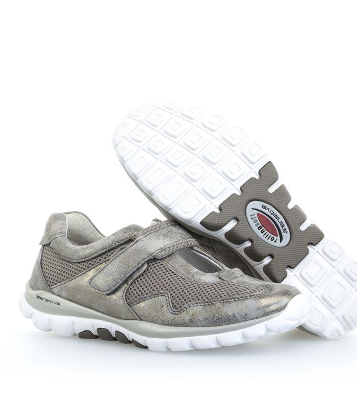 Sneakers plat textiel image number 4