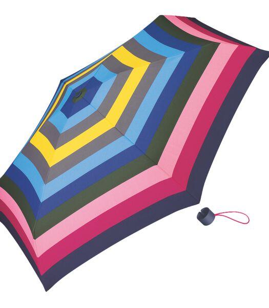 Paraplu Petito Dame multikleurig 'Spicy Stripe'