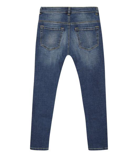 5 pocket slim jeans met ruches