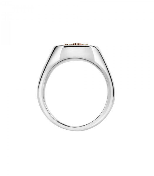Ring in staal, PVD roségoud GOD
