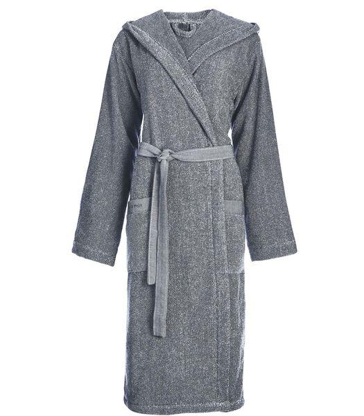 MELANGE - Badjas - Marineblauw / Zilver