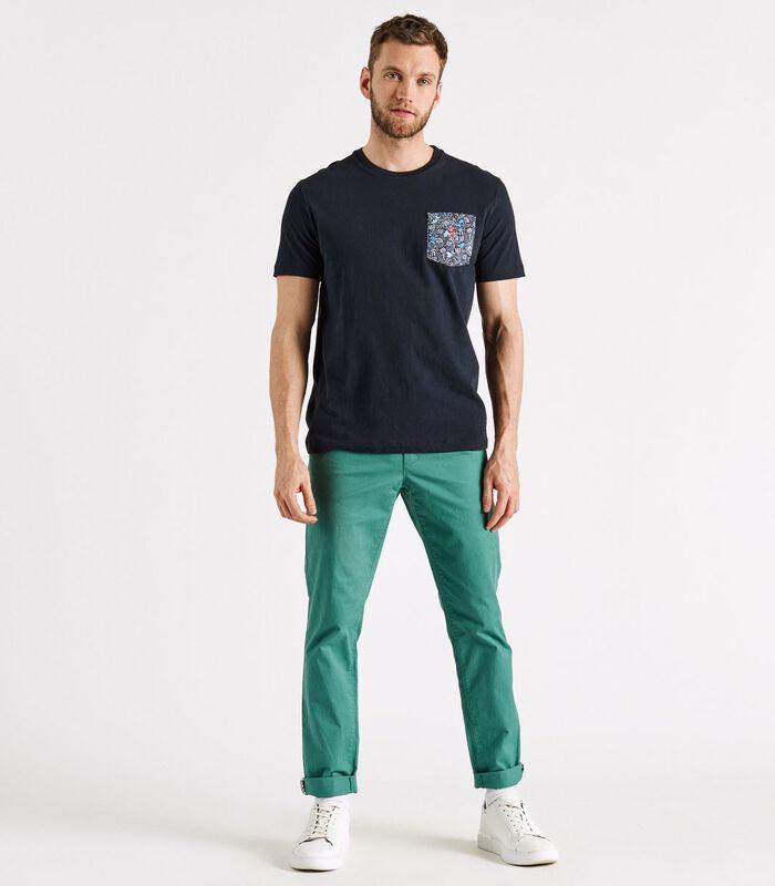 T-shirt met zak bedrukte THUNDER image number 3