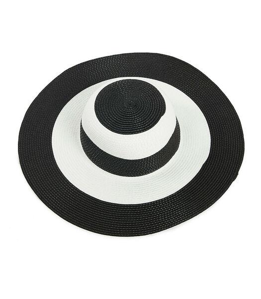 Tweekleurige zwarte en witte strandhoed
