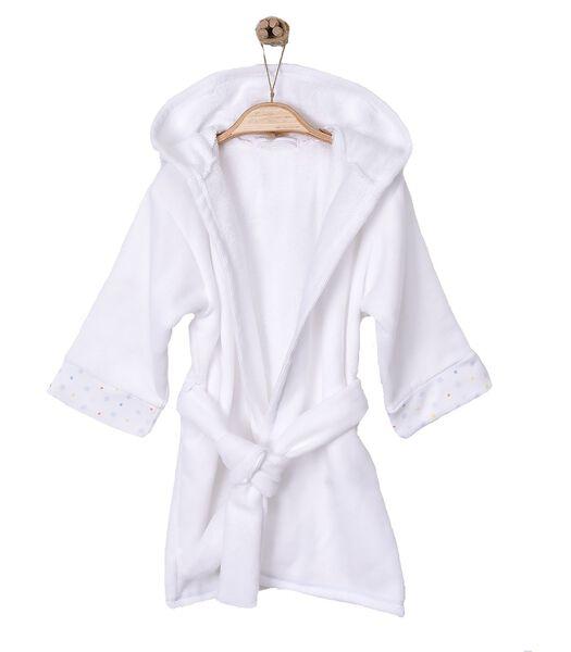 Badjas met kap voor baby's en kids van biokatoen
