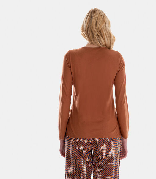 BALTIQUE - Homewear T-shirt met lange mouwen katoenmodal
