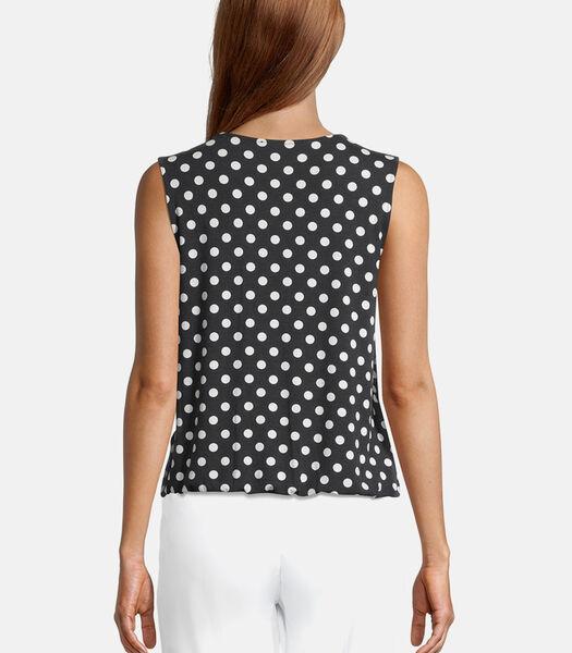 Shirt met ronde hals met elastiek