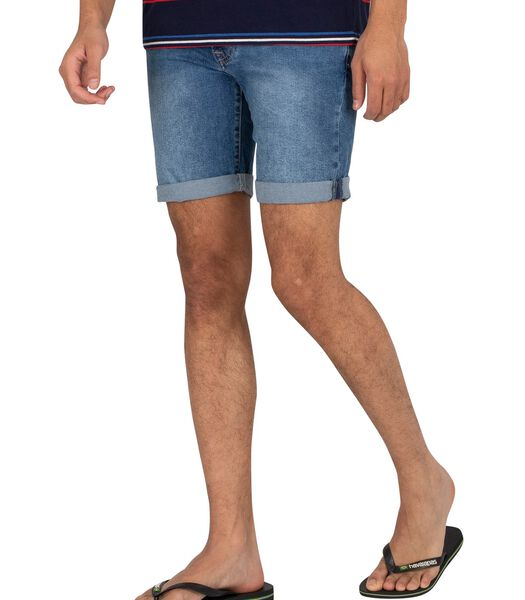Slim-fit short van riet denim