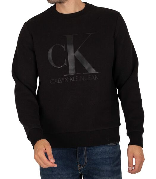 Sweat-shirt en cuir monogrammé