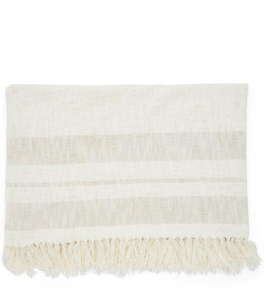 Club Stripe Throw 170x130 off-white