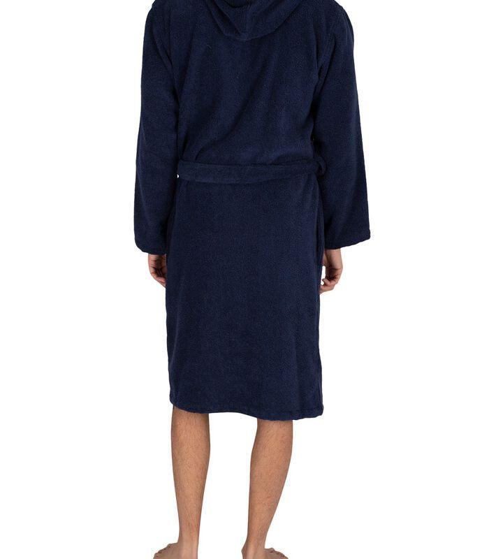 Actieve geweven badjas met capuchon image number 2