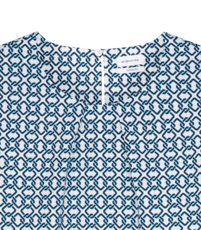 Shirtblouse Print Korte mouwen Ronde Hals image number 3