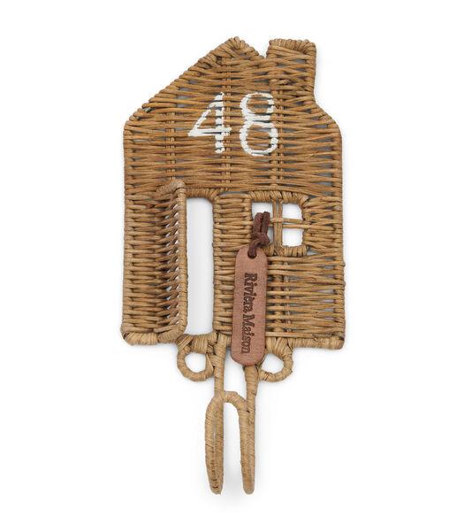 Rustic Rattan Happy Home Hook