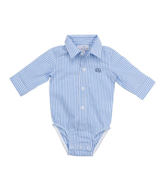 Shirt lange mouwen- Licht blauwe strepen image number 0