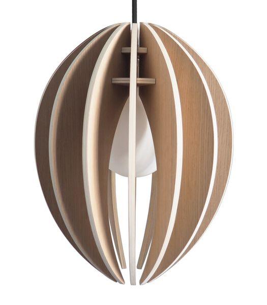 Lampe suspension design bois avec ampoule, FEVE