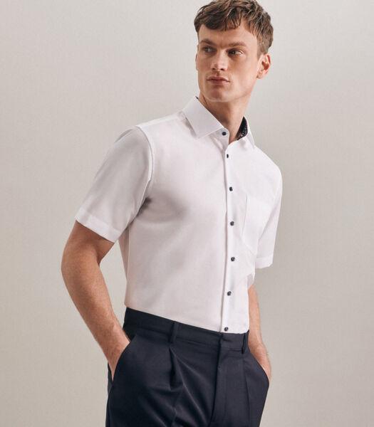 Overhemd Regular Fit Korte mouwen Uni