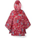 Mini Maxi Poncho - Regenponcho - Paisley Ruby Rood image number 0