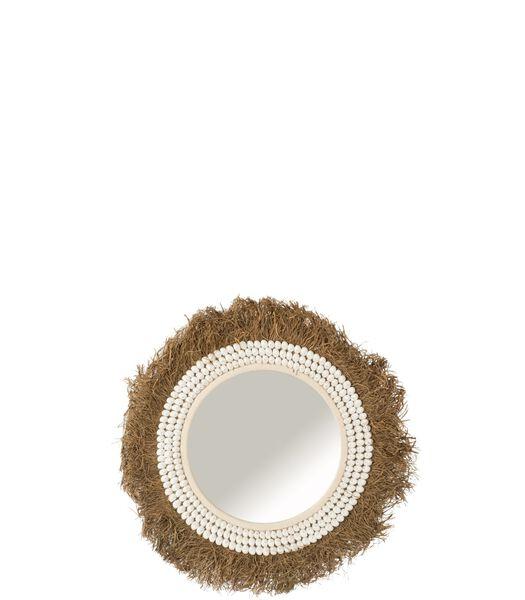 Miroir Isabel Coquillages/Raphia Large