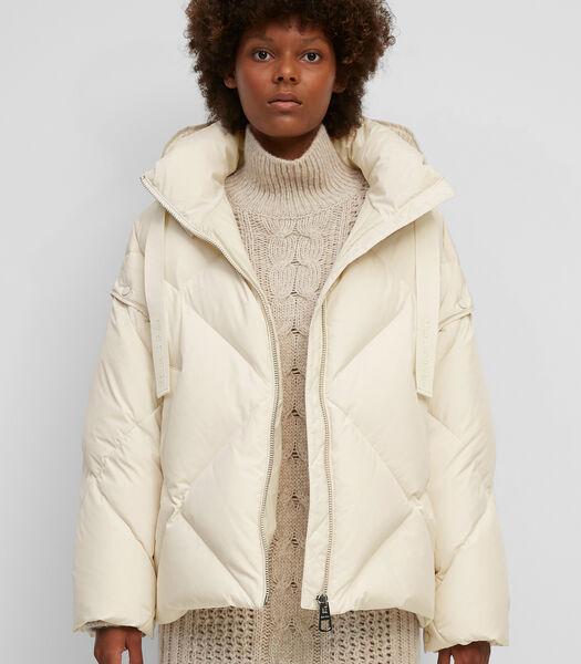 Gewatteerde donzen jas met afknoopbare mouwen