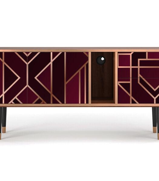 T1 Burgundy Jewelery - Tv-meubel - 2 deuren en 2 laden