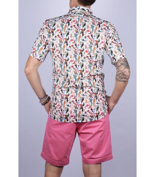 Overhemd linnen amerikaanse kraag dier