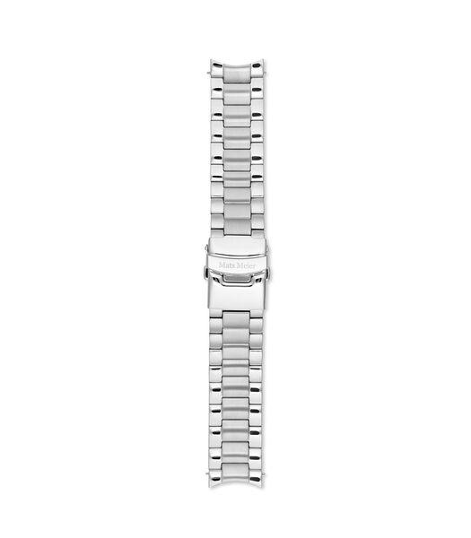 Horlogeband zilverkleurig MM40001