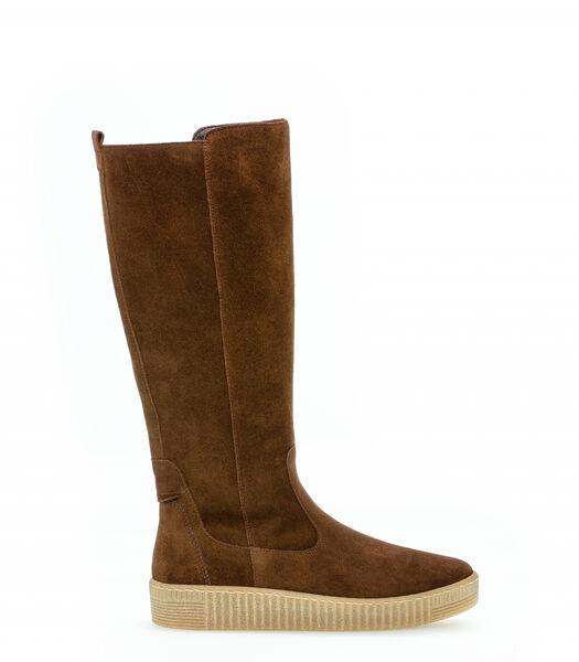 Platte suède laarzen