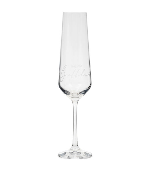 Time For Bubbles Glass