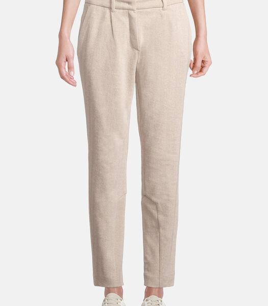 Pantalon en toile à pinces