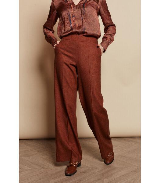 Pantalon avec des jambes de pantalon larges avec un dess