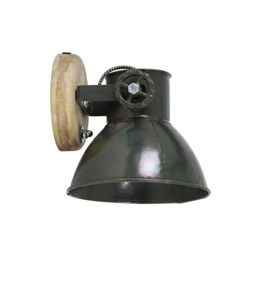 Wandlamp Elay - Hout/Leger groen