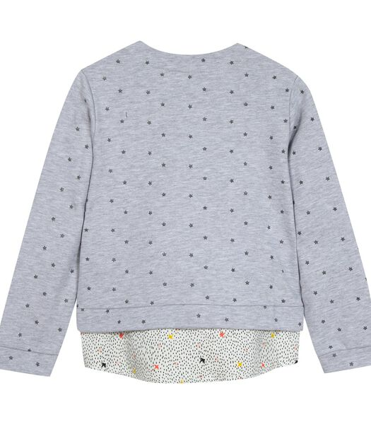 Sweatshirt met sterren en geborduurde badges