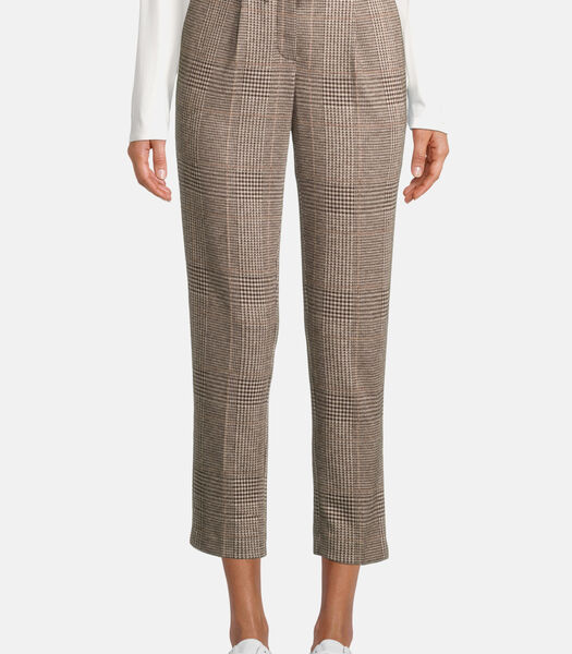 Pantalon à carreaux à pinces