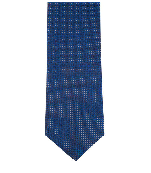Cravate à motifs croisés en soie