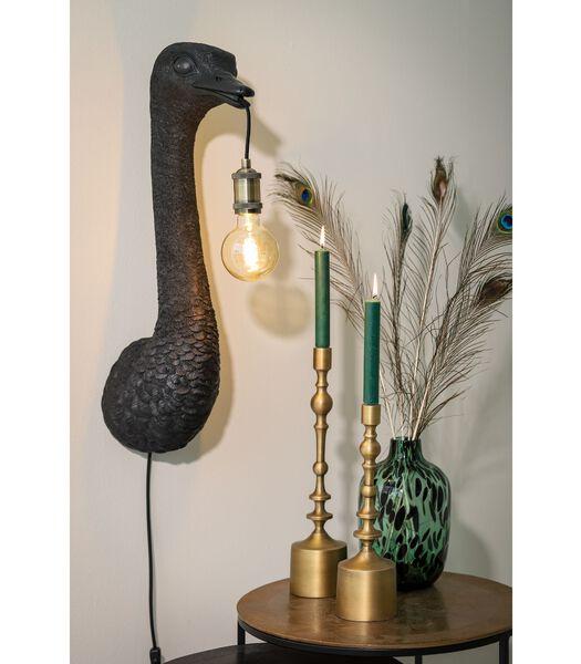 Applique Ostrich - Noir - 25x19x72 cm