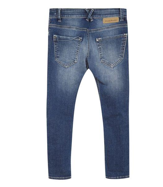 Verbleekte slim jeans