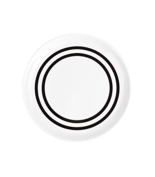 Assiette plate 19,5cm noir Stripes - set/6