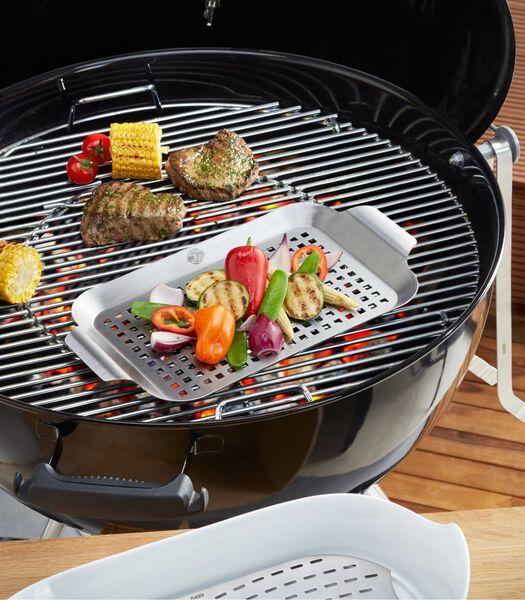 Poêle à griller barbecue 33x18,7 cm BBQ