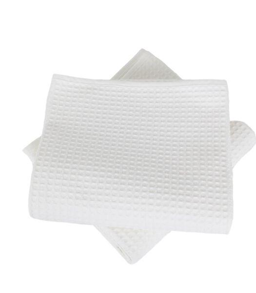 Set van 2 handdoeken honingraat WEEKEND