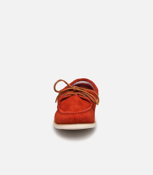 Chaussures de bateau rouge suède Classic