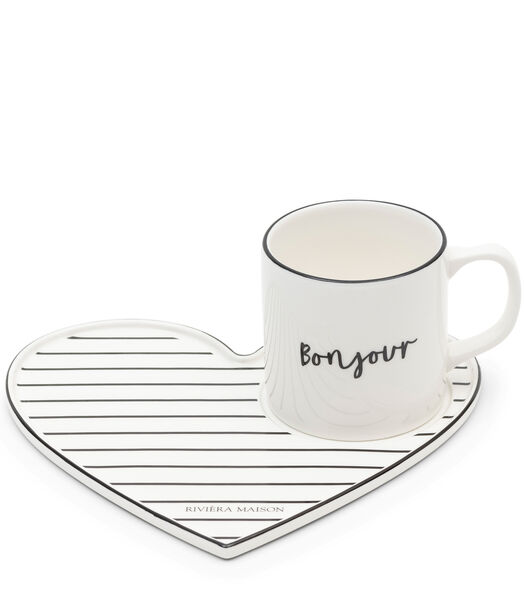 Bonjour Lovely Cup & Saucer