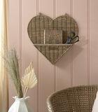 Rustic Rattan Heart Wall Organiser image number 1