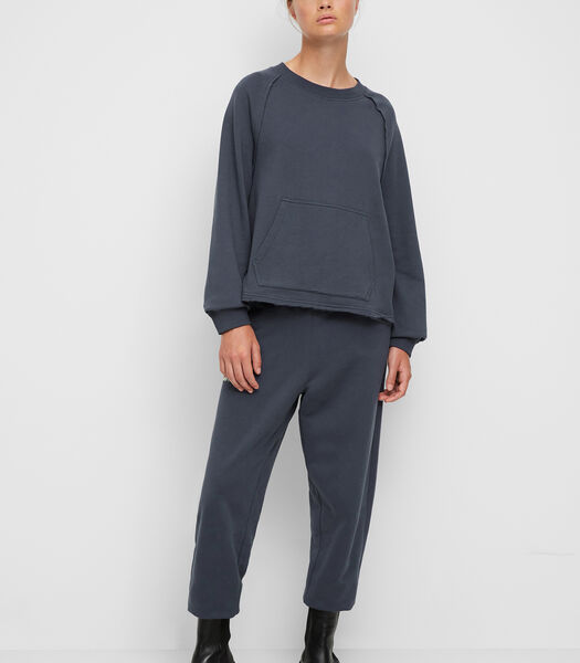 Oversized sweatshirt van een mix met organic cotton