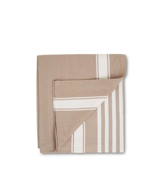 Icons Cotton Herringbone Striped Tablecloth