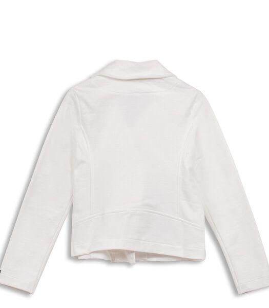 Zip up sweatshirt met geborduurd motief