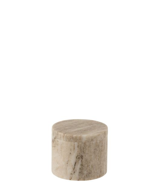 Pot A Provision Rond Marbre Gris/Beige