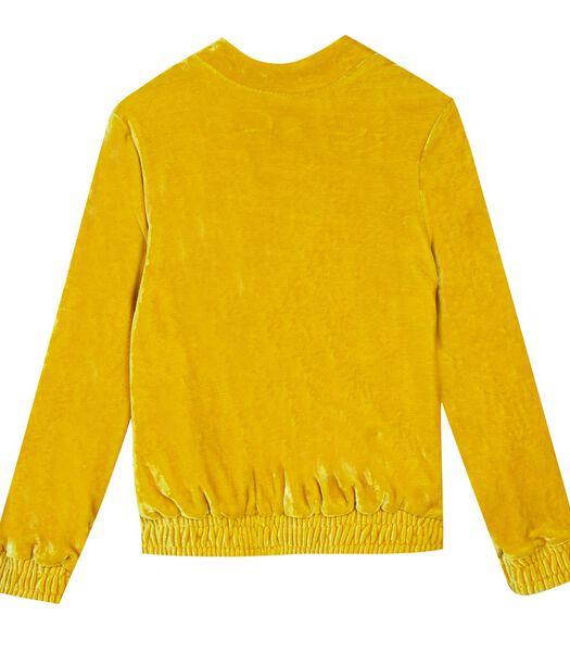 Suede sweatshirt met rits